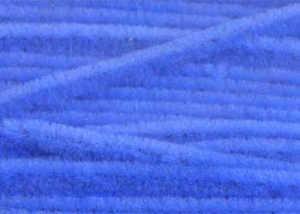 Bild på Standard Chenille Fine (3mm) Fluo Blue