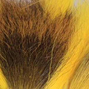 Bild på Hjortsvans/Bucktail i bitar Yellow