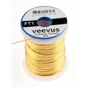 Bild på Veevus French Tinsel Oval Gold Medium