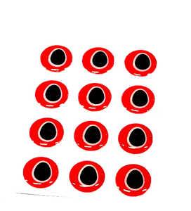 Bild på Frantic Eyes 10mm Black Pupil