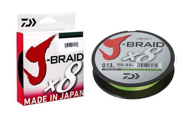 Bild på Daiwa J-Braid X8 Chartreuse 150m