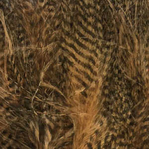 Bild på Marabou Fine Barred Feathers Wood Duck Tan