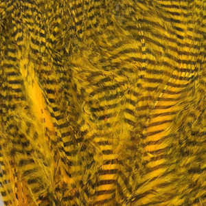 Bild på Marabou Fine Barred Feathers Sunburst Yellow