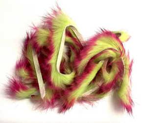 Bild på Tiger Barred Rabbit Strips Hot Pink/Brown over Chartreuse