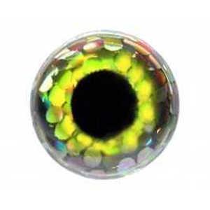 Bild på FutureFly 3D Epoxy Eyes 3mm Holo Yellow