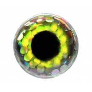 Bild på FutureFly 3D Epoxy Eyes 4mm Holo Yellow