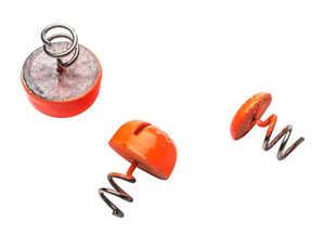 Bild på Svartzonker Screw-in-dots Fluo Orange (3 pack) 9,5gr (13,8Ø)