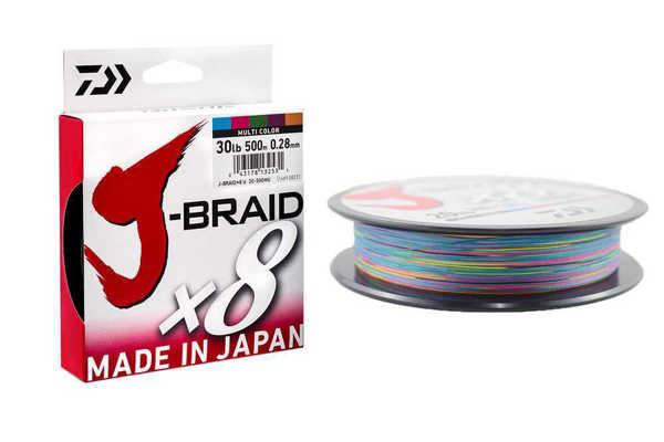 Bild på Daiwa J-Braid X8 Multicolor 500m