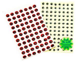 Bild på Behr Angelsport 3D-Fisheyes 8mm (72 pack) Glow (Självlysande)