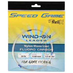 Bild på Relix Speed Game Wind-on Leader - Fluorocarbon 80lb / 0.90mm (4,5 meter)