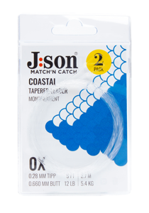 Bild på Json Coastal Seatrout Leader 9ft (2-pack) 0,25mm | 1X