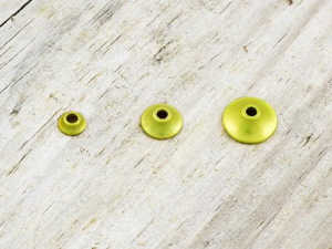 Bild på FITS Tungsten Turbo Cones (10-pack) Yellow Metallic - XS