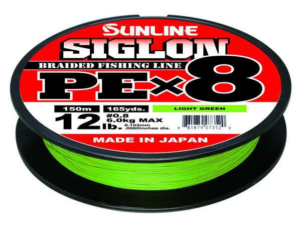 Bild på Sunline Siglon PE X8 Braid Light Green 150m