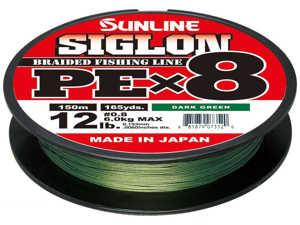 Bild på Sunline Siglon PE X8 Braid Dark Green 150m 0,296mm / 22kg