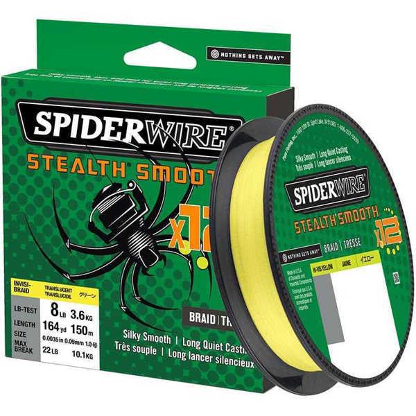 Bild på Spiderwire Stealth Smooth 12 Hi-Vis Yellow 150m