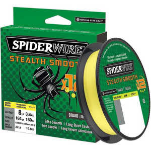 Bild på Spiderwire Stealth Smooth 12 Hi-Vis Yellow 150m 0,11mm / 10,3kg