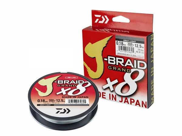 Bild på Daiwa J-Braid Grand X8 Grey 135m