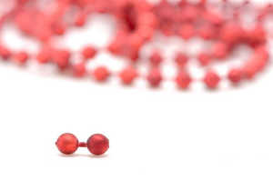 Bild på Bead Chain Eyes Metallic Red 3,2mm