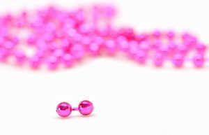 Bild på Bead Chain Eyes Metallic Pink 3,2mm
