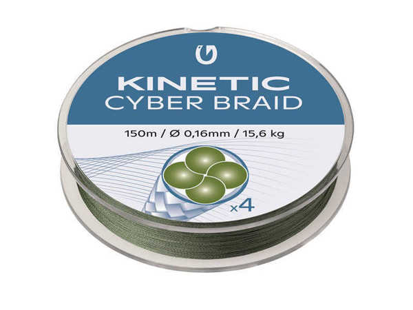 Bild på Kinetic Cyber Braid X4 Dusty Green 150m