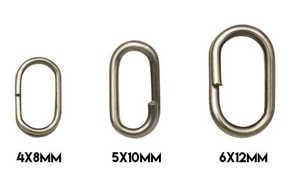 Bild på Kinetic Oval Splitring (10 pack) 4x8mm