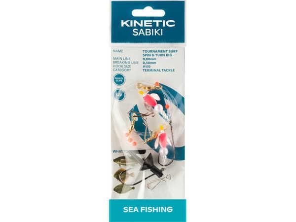Bild på Kinetic Sabiki Tournament Surf Spin & Turn Pink #1/0