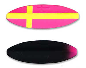 Bild på Viking Lures Præsten Classic 7g Custom Pink/Yellow Cross