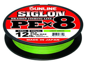 Bild på Sunline Siglon PE X8 Braid Light Green 150m 0,242mm / 15,5kg