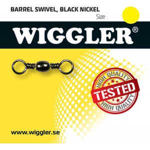 Bild på Wiggler Barrel Swivel Black Nickel (2-10 pack) #5/0 / 71kg (2 pack)