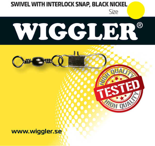 Bild på Wiggler Swivel Interlock Snap Black Nickel (2-10 pack)