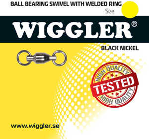 Bild på Wiggler Ball Bearing Swivel Black Nickel (1-2 pack) #0 / 16kg (2 pack)