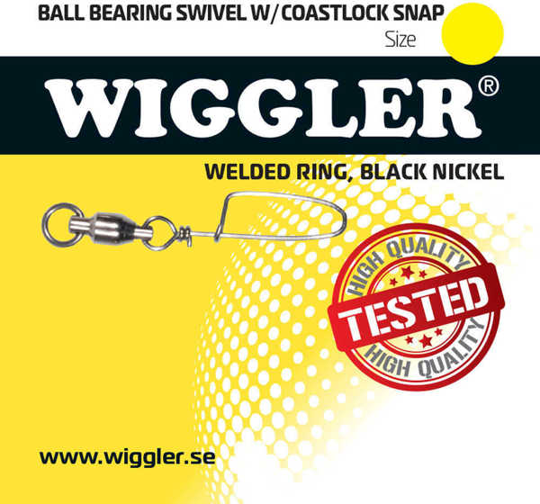 Bild på Wiggler Ball Bearing Swivel With Coastlock Black Nickel (1-2 pack)
