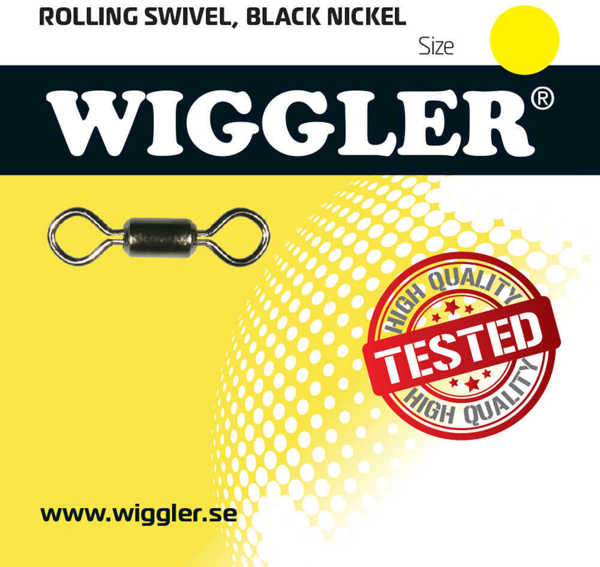 Bild på Wiggler Rolling Swivel Black Nickel (3-10 pack)