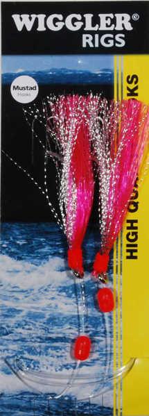Bild på Häckla Flasher Rig Röd (2 krokar #8/0)