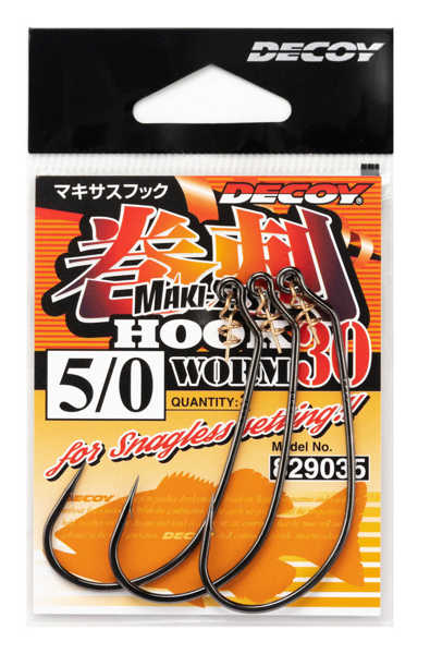 Bild på Decoy Makisasu Hook Worm30 (3-5 pack)