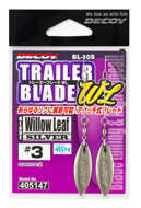 Bild på Decoy Trailer Blade Willow Leaf Silver (2 pack)