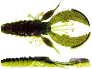 Bild på Westin CreCraw Creaturebait 10cm 12g (4 pack) Black/Chartreuse