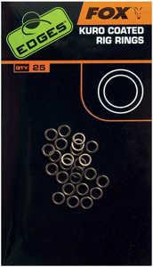 Bild på Fox Edges Kuro Coated Rig Rings (25 pack) Large (3,7mm)