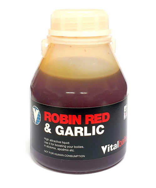 Bild på Vitalbaits Liquid Robin Red & Garlic 250ml