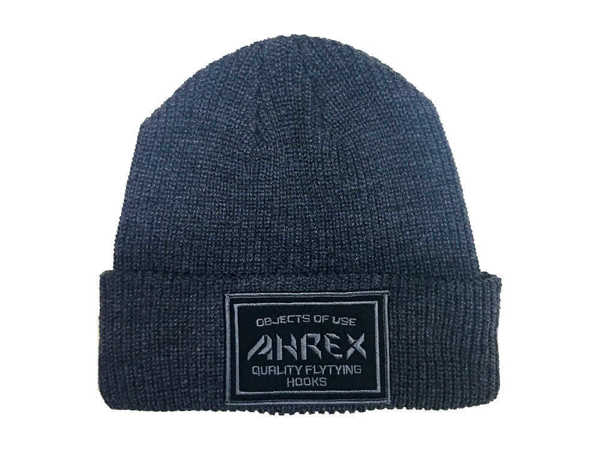Bild på Ahrex Ribbed Knit Woven Patch Beanie Dark Grey