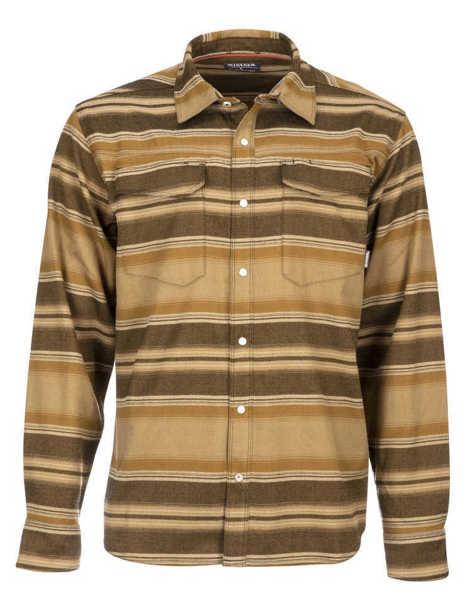Bild på Simms Gallatin Flannel (Dark Bronze Stripe)