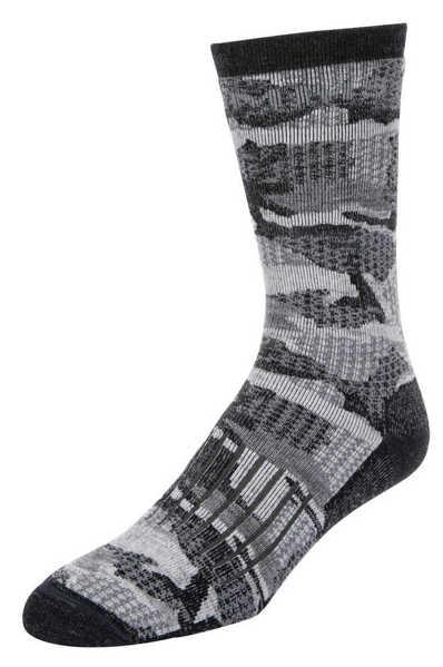 Bild på Simms Merino Midweight Hiker Sock Hex Flo Camo Carbon