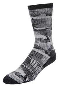 Bild på Simms Merino Midweight Hiker Sock Hex Flo Camo Carbon Large