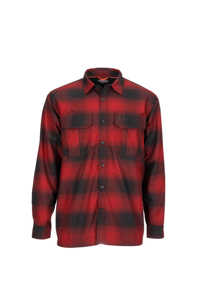 Bild på Simms ColdWeather Shirt (Auburn Red Buffalo Blur Plaid) Large
