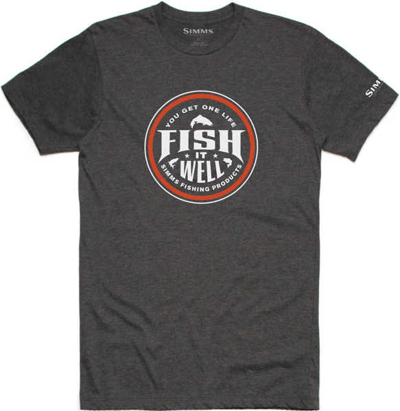 Bild på Simms Fish It Well T-Shirt Charcoal Heather