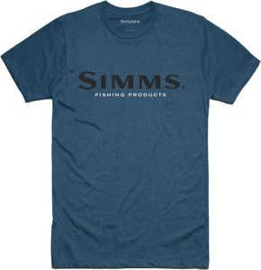 Bild på Simms Logo T-Shirt Steel Blue Heather Small