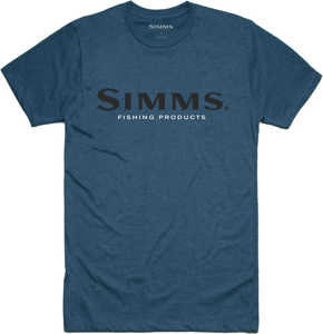 Bild på Simms Logo T-Shirt Steel Blue Heather Large