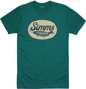 Bild på Simms Trout Wander T-Shirt Dark Teal Heather Small