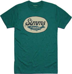 Bild på Simms Trout Wander T-Shirt Dark Teal Heather Medium