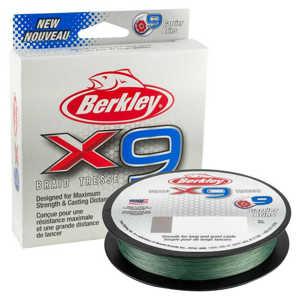 Bild på Berkley X9 Lo-Vis Green 150m 0,08mm / 7,6kg